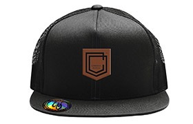 GORRA COMMENCAL TRUCKER VISERA PLANA SHIELD CUIR BLACK