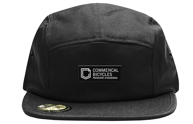 GORRA COMMENCAL FIVE PLANA SHIELD BLACK  2019