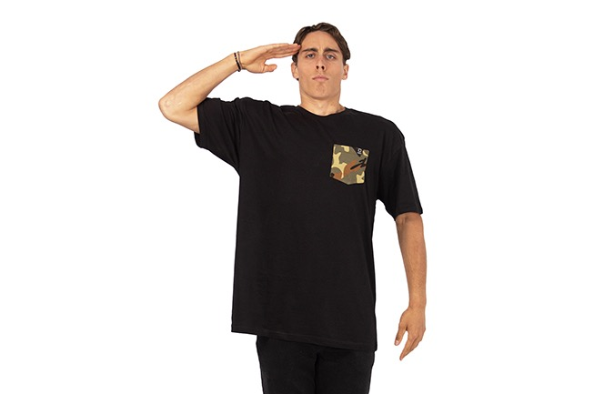 PLAYERA BASIC BLACK/CAMO