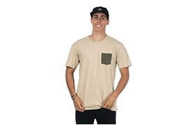 PLAYERA BASIC SAND/GREEN